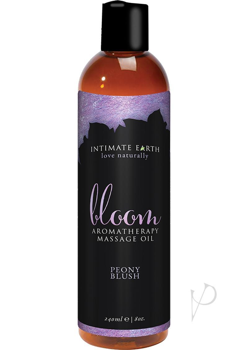 Intimate Earth Bloom Aromatherapy Massage Oil Peony Blush 8oz